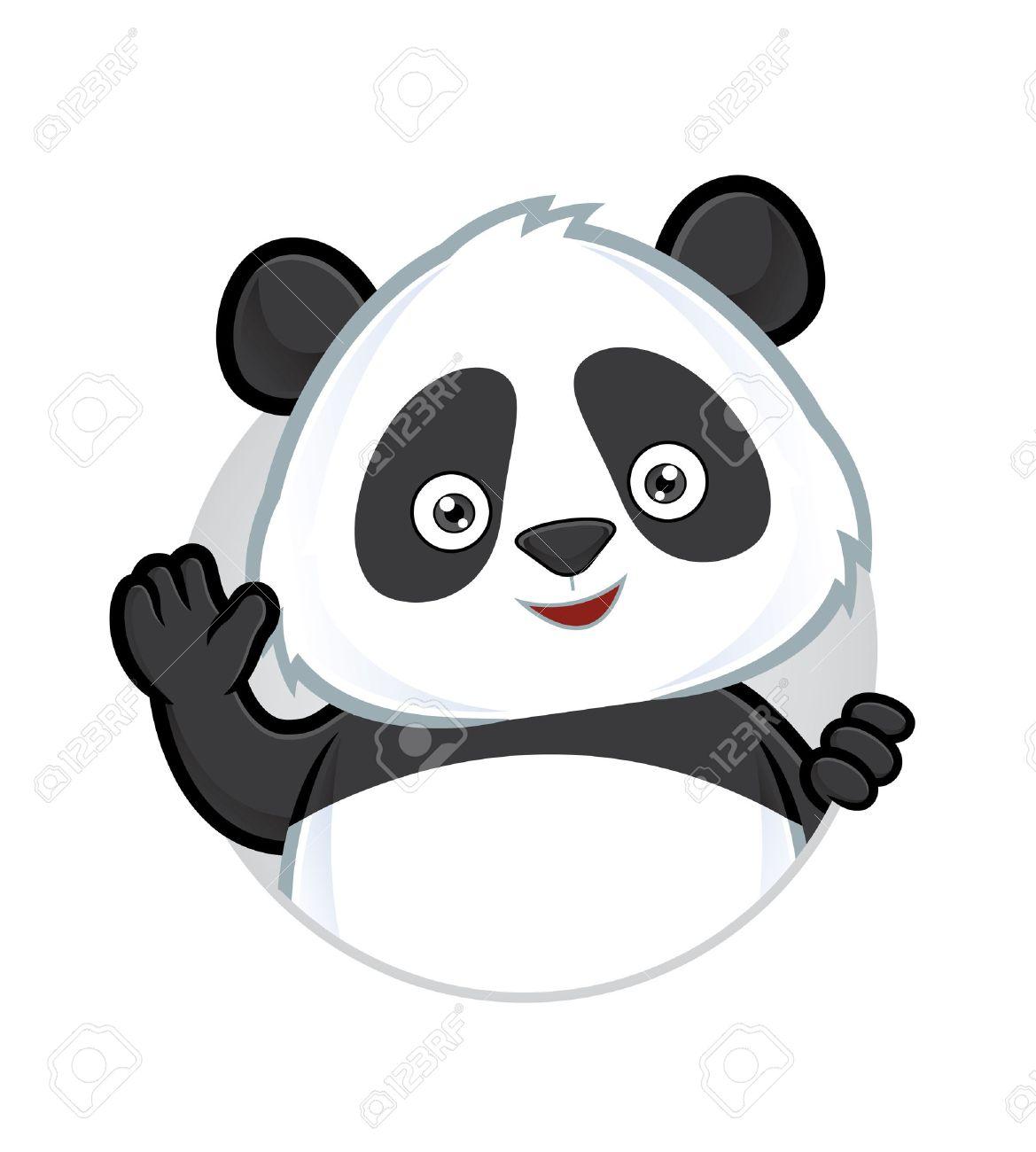 Panda waving - 35192159