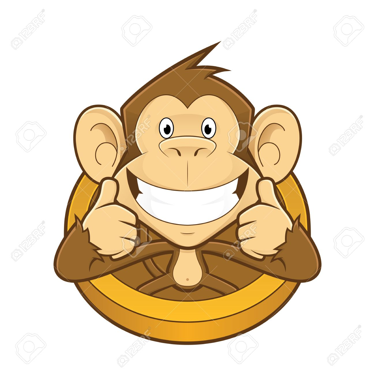 monkey giving two thumbs up royalty free cliparts vectors and rh 123rf com clipart + 2 thumbs up clipart + 2 thumbs up