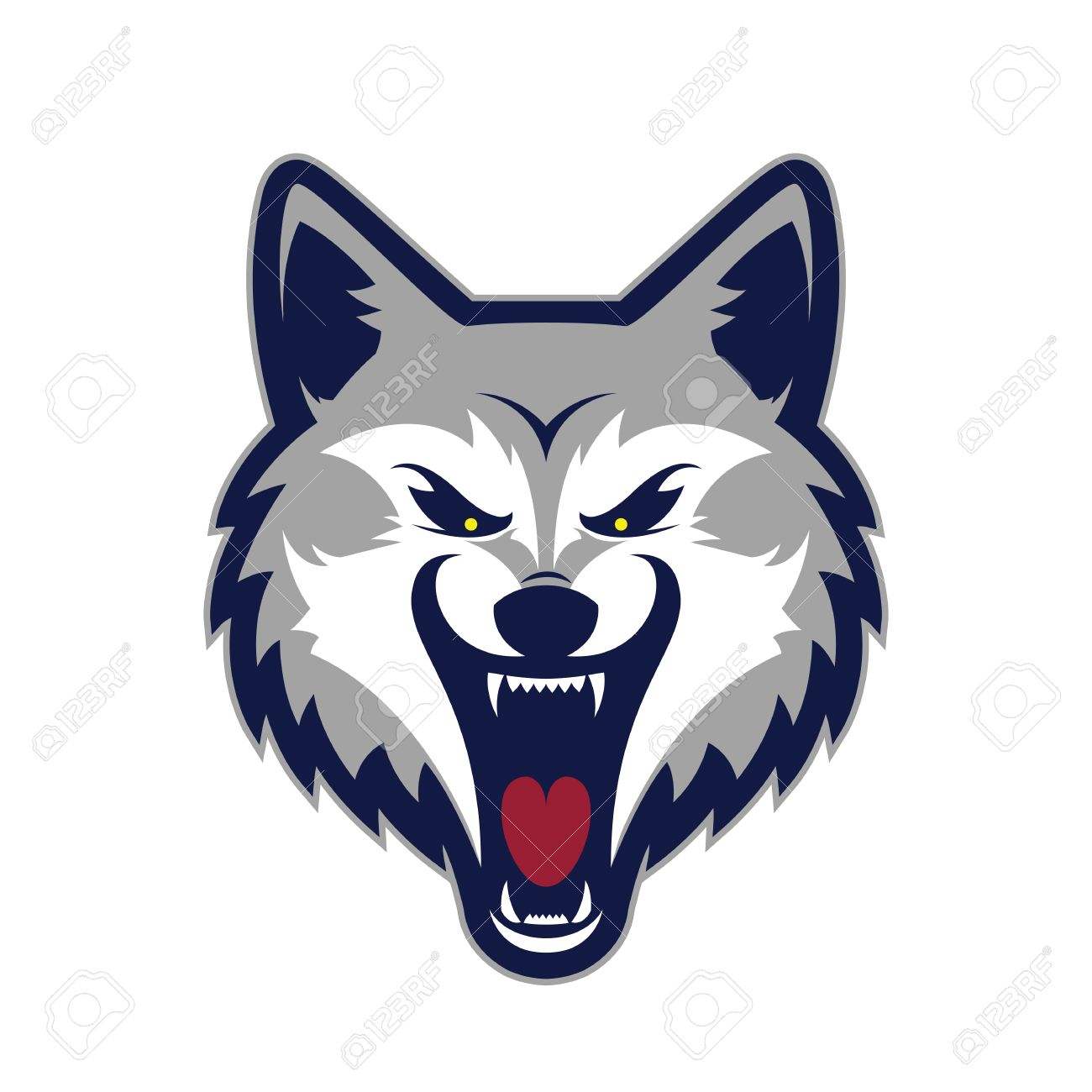 wolf head mascot royalty free cliparts vectors and stock rh 123rf com wolf vector free wolf vector art free