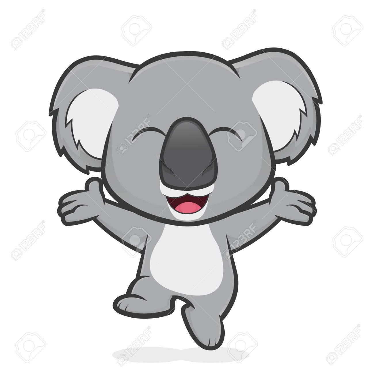 Happy koala jumping - 85104279