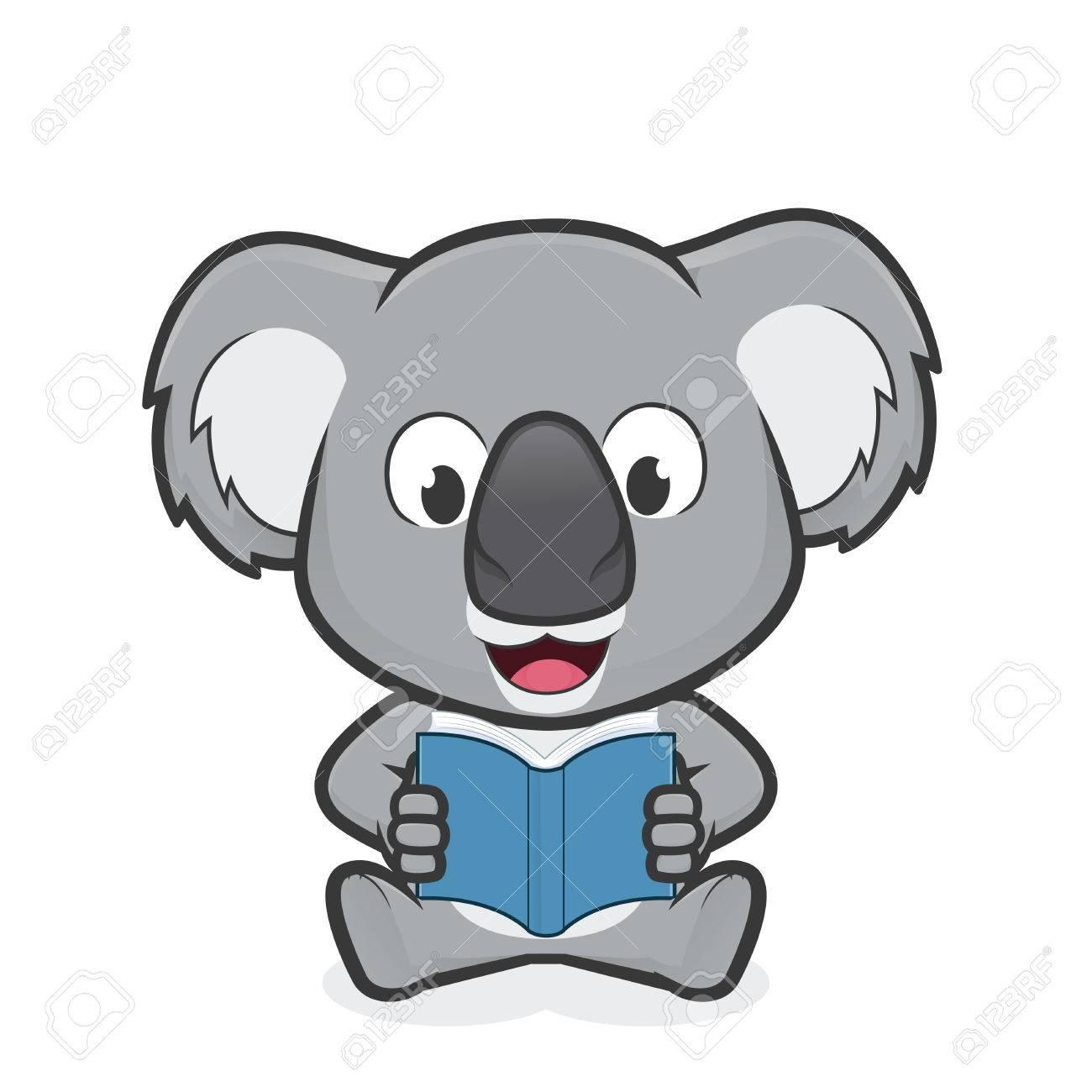 koala reading a book royalty free cliparts vectors and stock rh 123rf com Penguin Clip Art Lion Clip Art