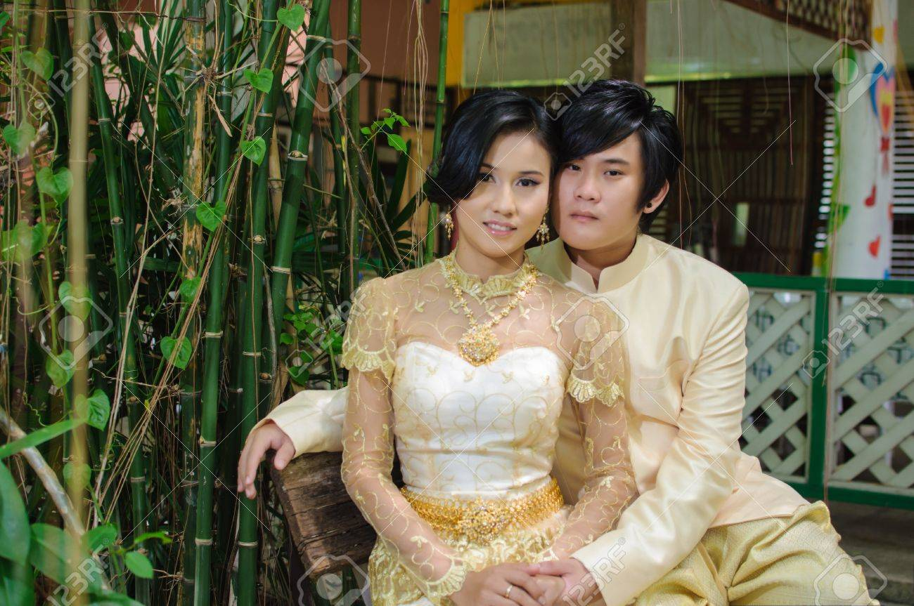 A Traditional Wedding Dress, Thailand Stock Photo, Picture And ...