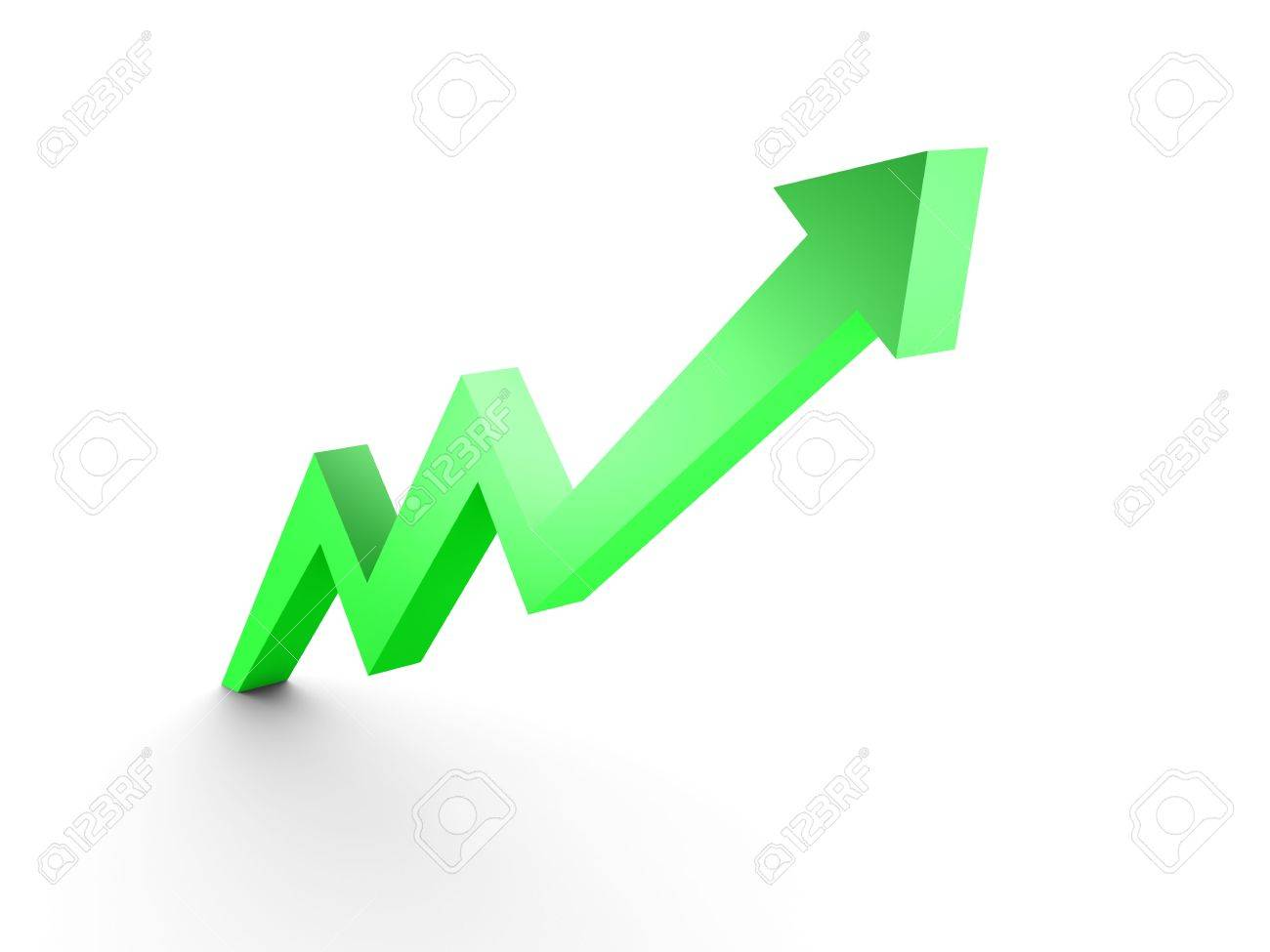 Business Graph, 3d rendered conceptual arrow chart Stock Photo - 6799302