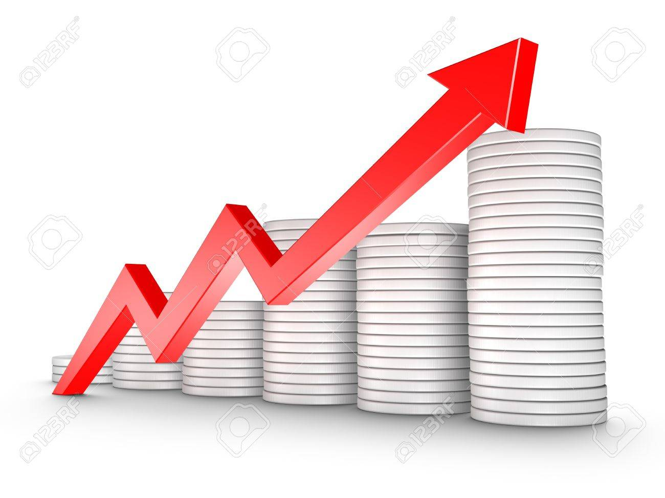 Red arrow and coins growth chart isolated on white stock photo red arrow and coins growth chart isolated on white stock photo 8923730 nvjuhfo Gallery