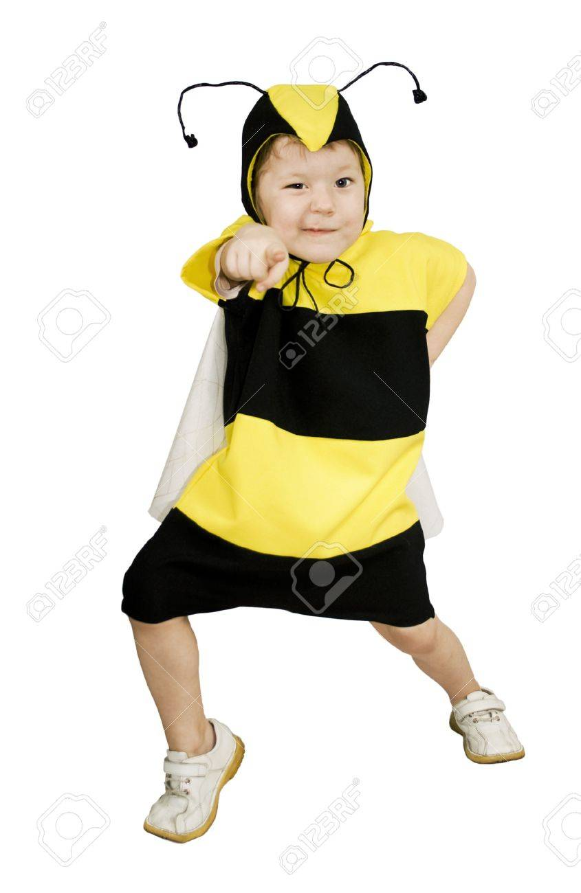 Cute Little Girl In Bumble Bee Costume Stock Photo Picture And