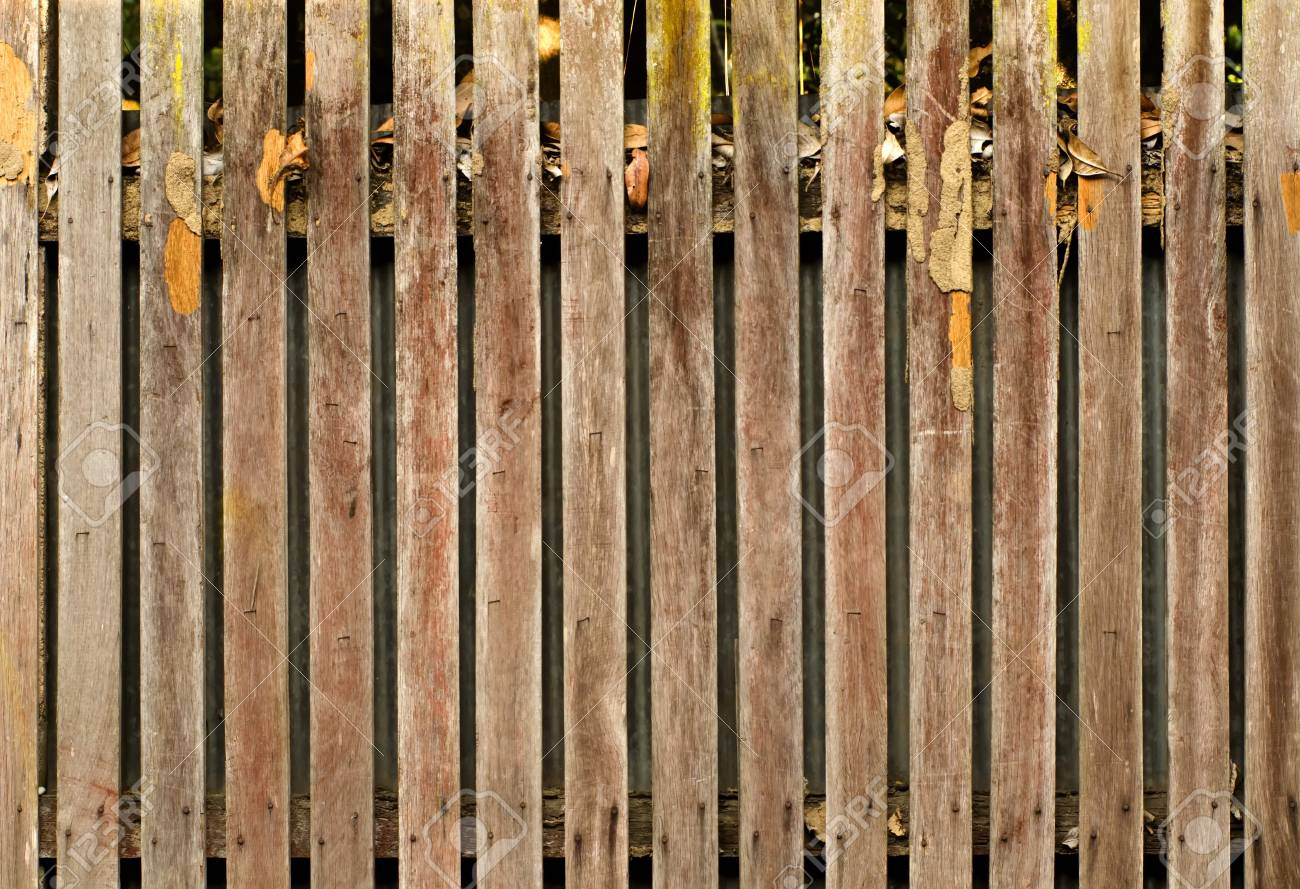 Merveilleux Old Wooden Fence, A Close Up Photo Image Of Old Wooden Fence That Consist Of
