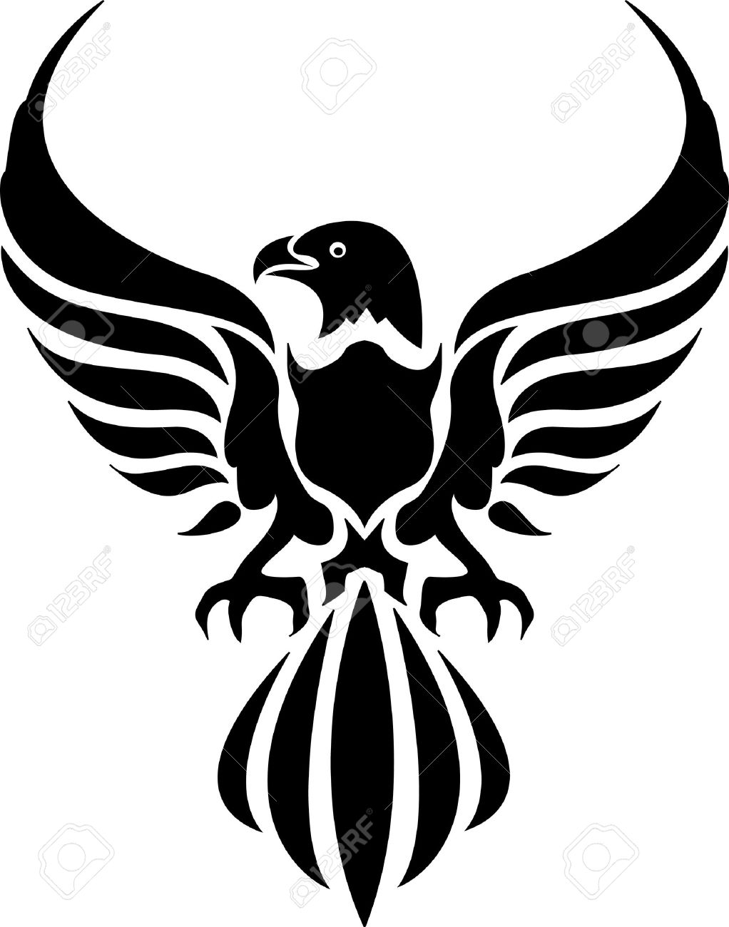Tribal-Tattoos 14474288-tribal-tattoo-of-an-eagle-Stock-Vector-design