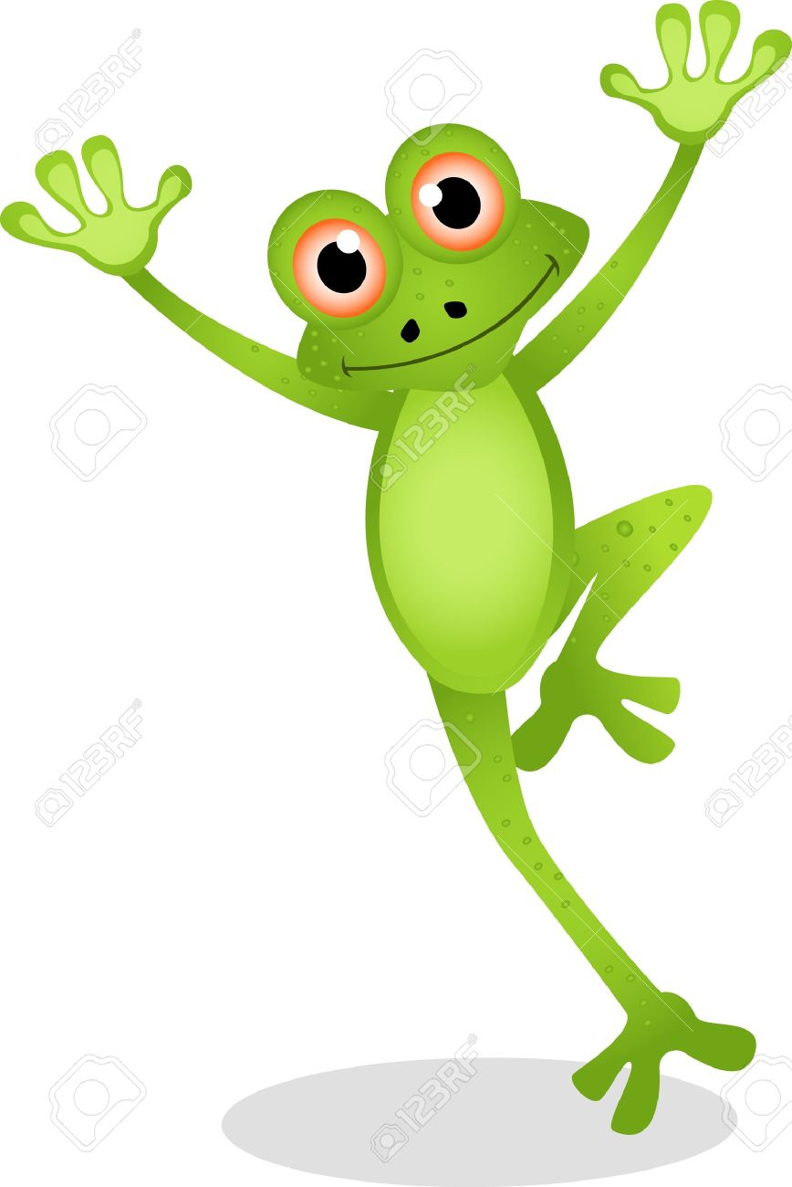 Funny Frog Cartoon Royalty Free Cliparts, Vectors, And Stock ...