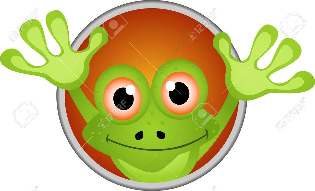 funny frog cartoon Stock Vector - 14474315