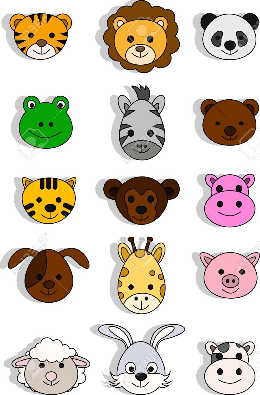 a variety of cute cartoon animals Stock Vector - 14474428