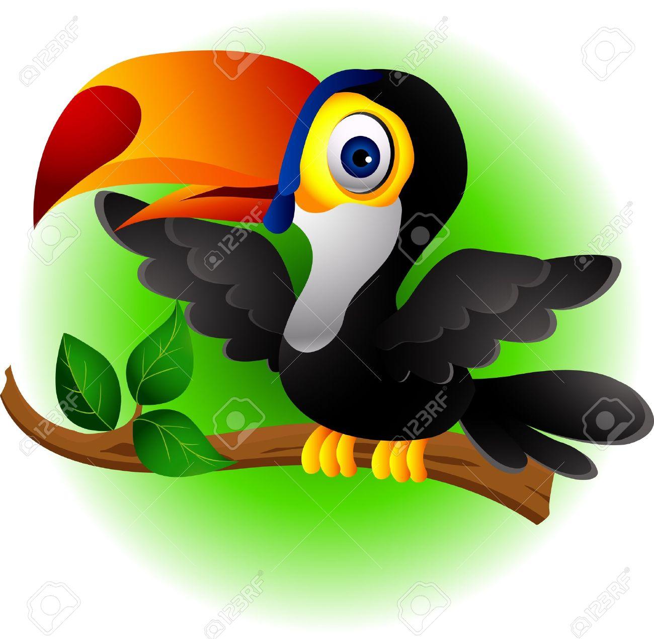 Toucan bird cartoon Stock Vector - 14474380