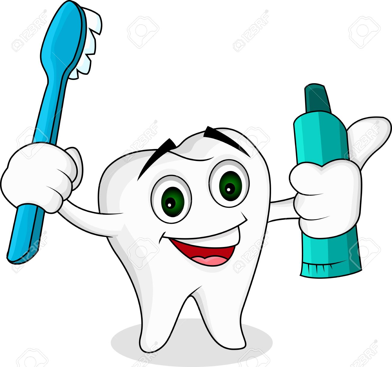 Tooth Cartoon Character Royalty Free Cliparts, Vectors, And Stock ...
