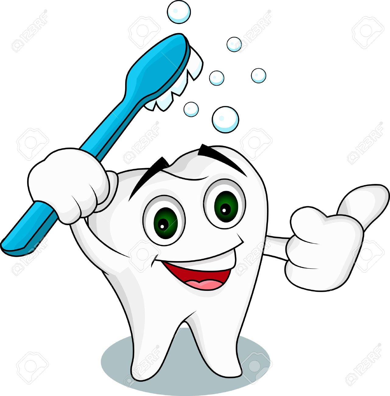 Tooth cartoon character Stock Vector - 14508838