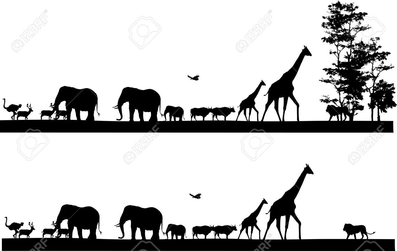 Safari Animals Silhouette
