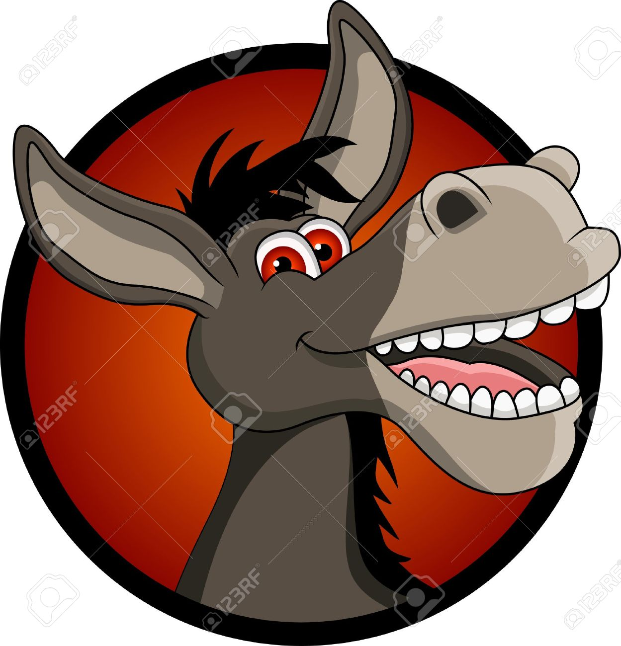 funny donkey head cartoon Stock Vector - 14629591