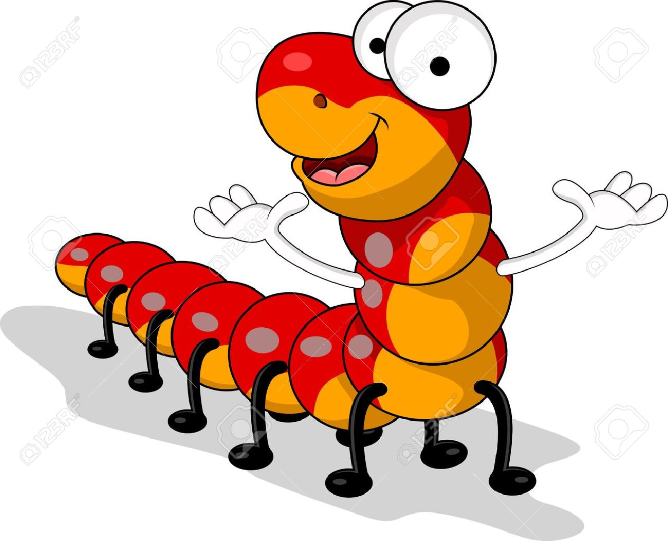 Red Worm Cartoon Royalty Free Cliparts Vectors And Stock
