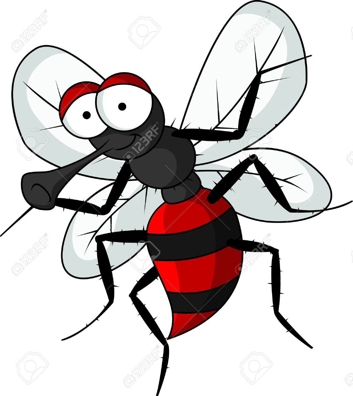 mosquito cartoon Stock Vector - 14691473
