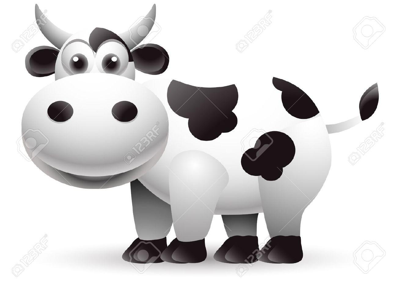cute cow cartoon Stock Vector - 15498110