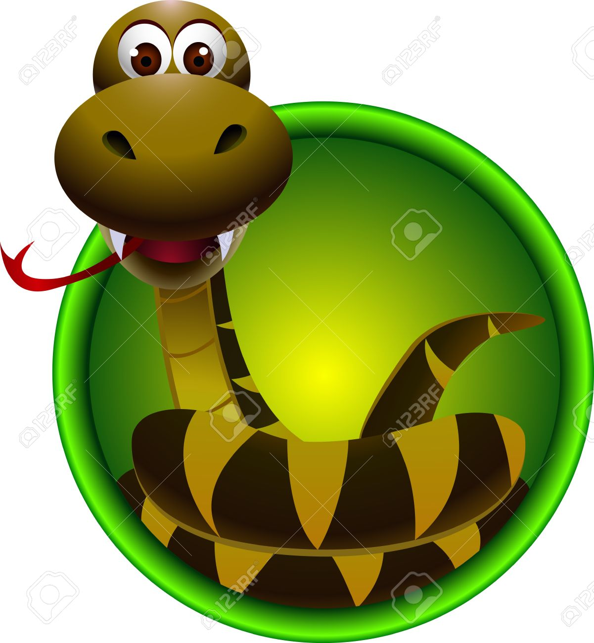 cute snake cartoon Stock Vector - 15359887
