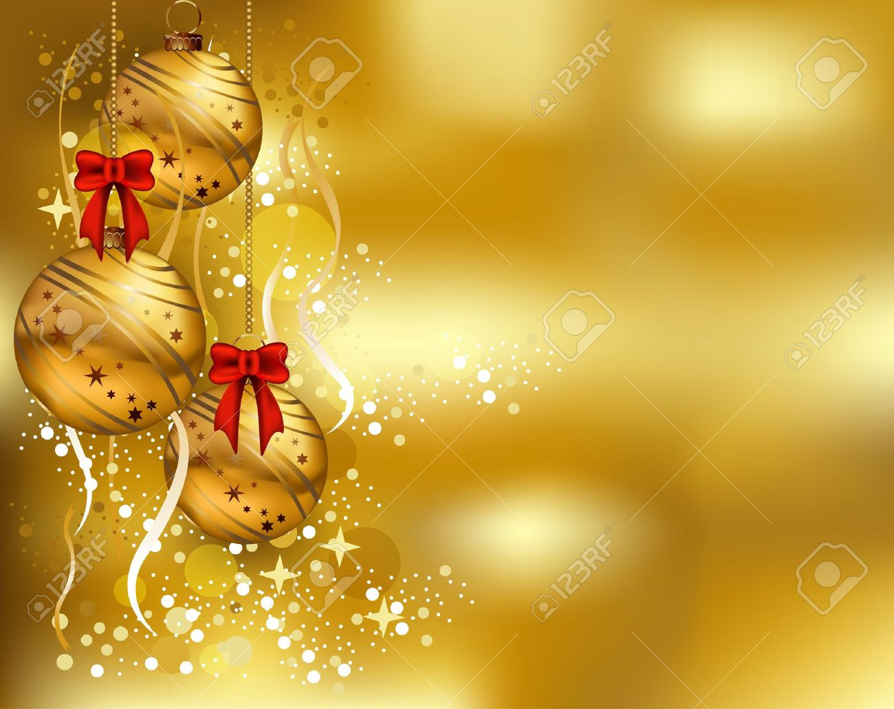 beauty christmas card background with gold color royalty free