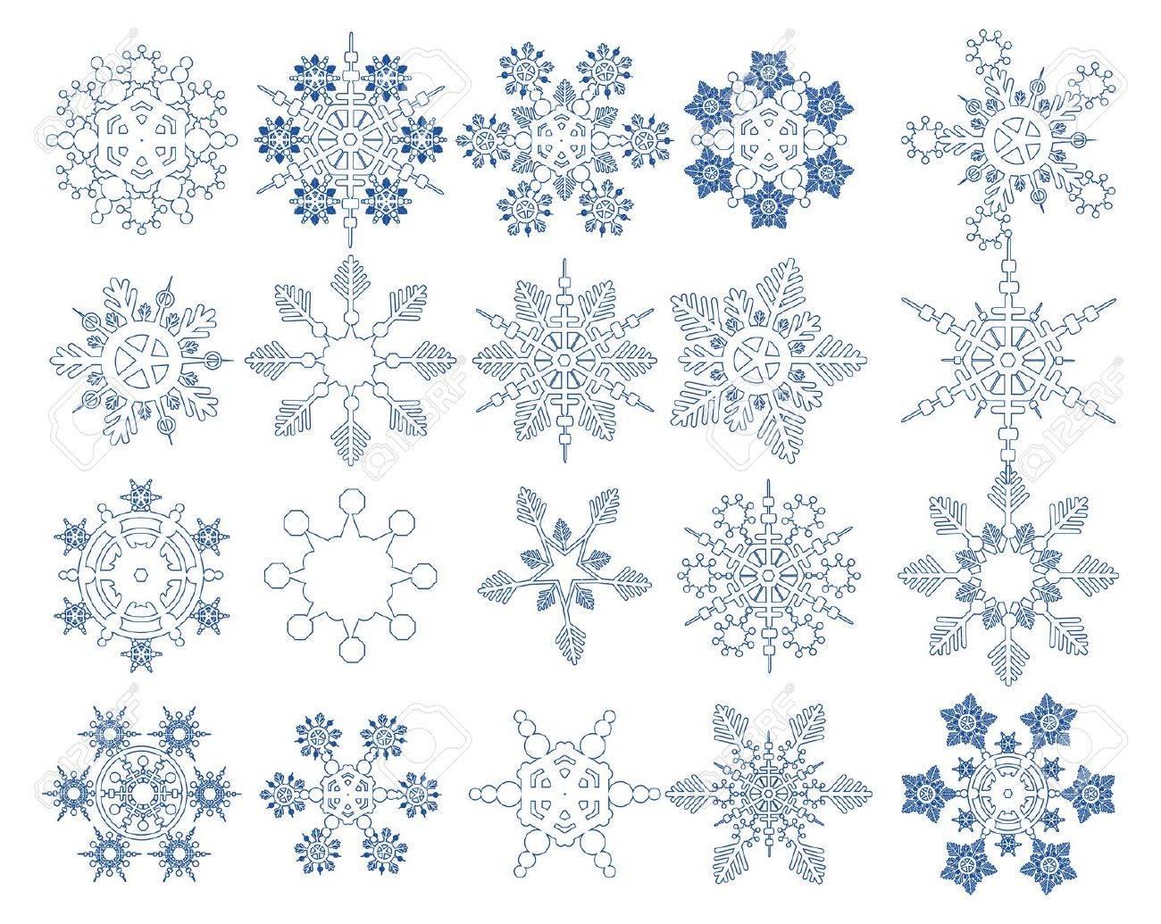 Snowflake Vectors collection - 16460609