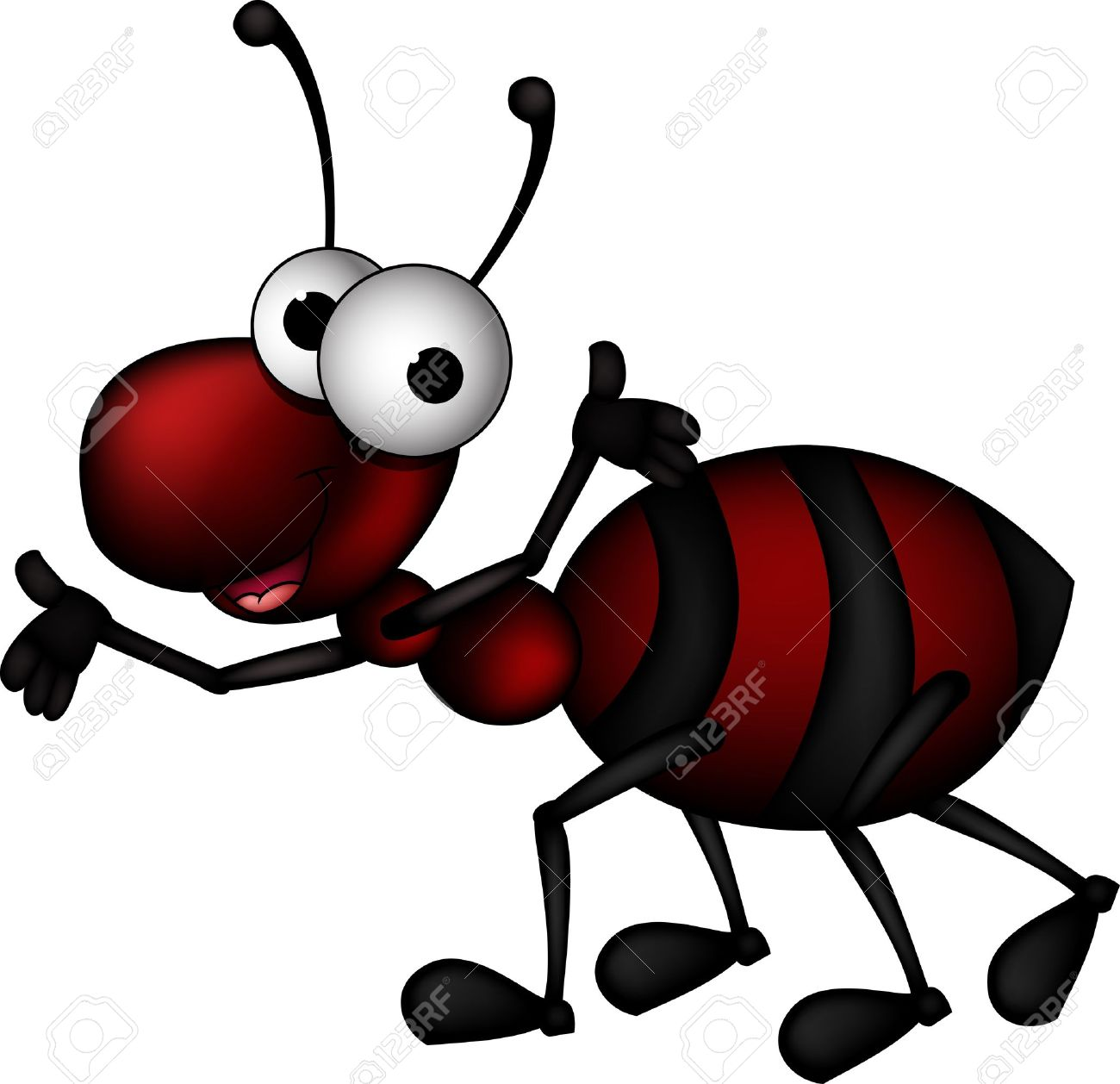 red ant cartoon Stock Vector - 16925679