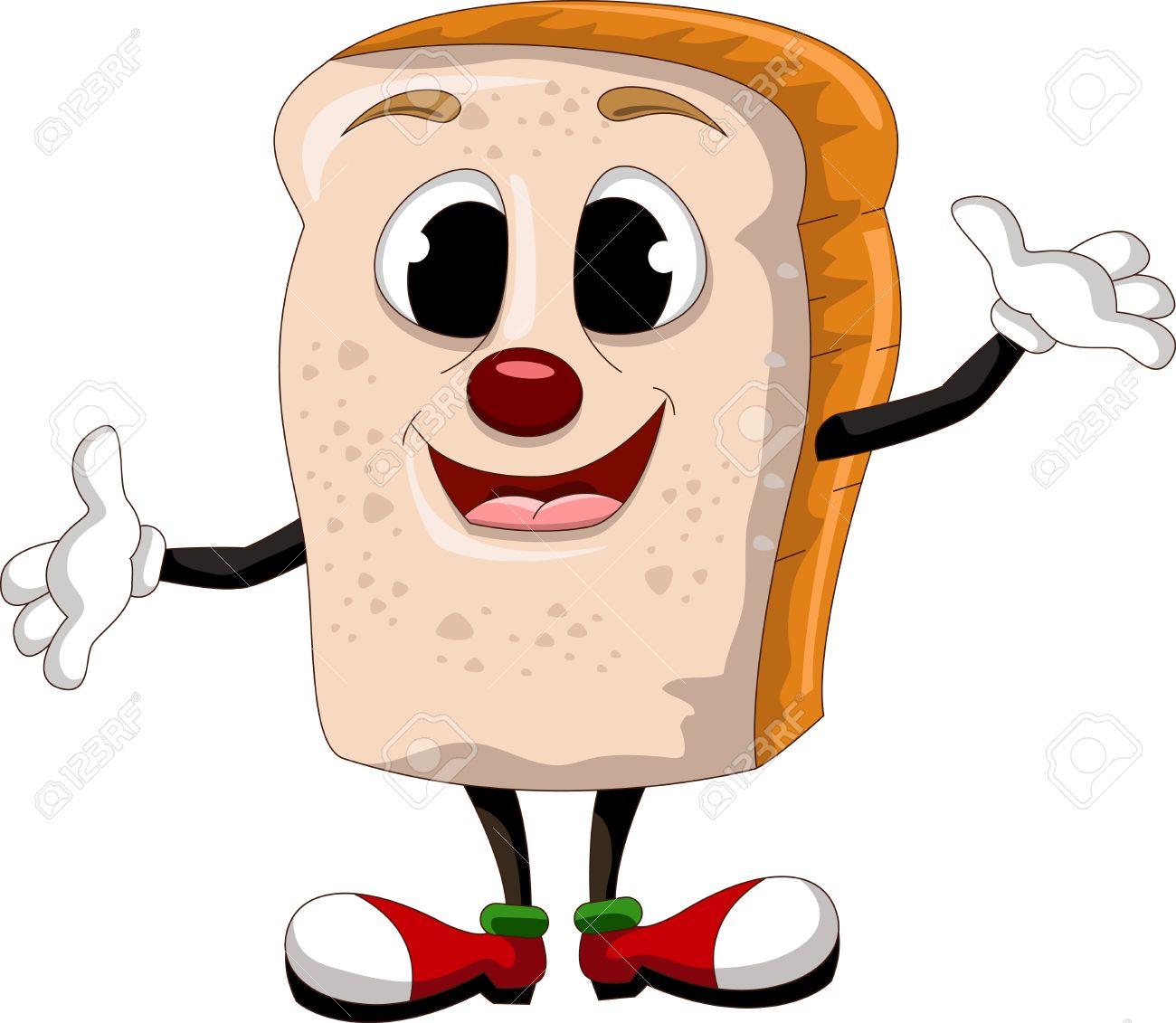 happy bread cartoon Stock Vector - 17630337