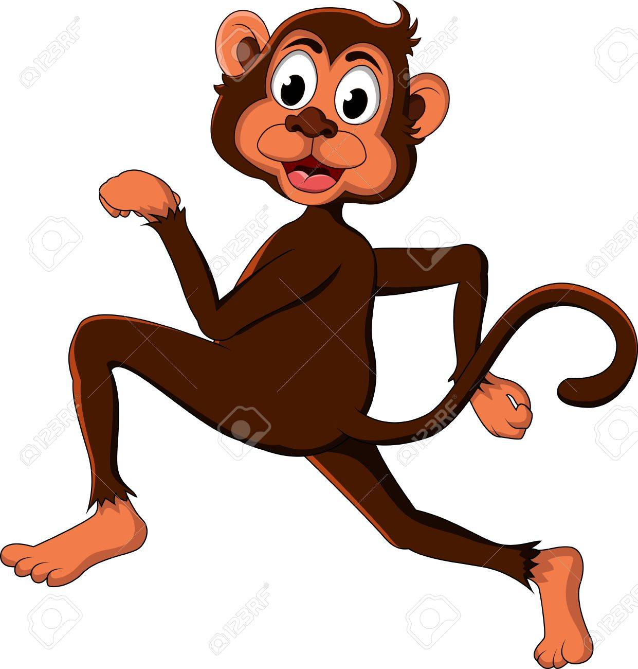 cute monkey cartoon expression Stock Vector - 17840632