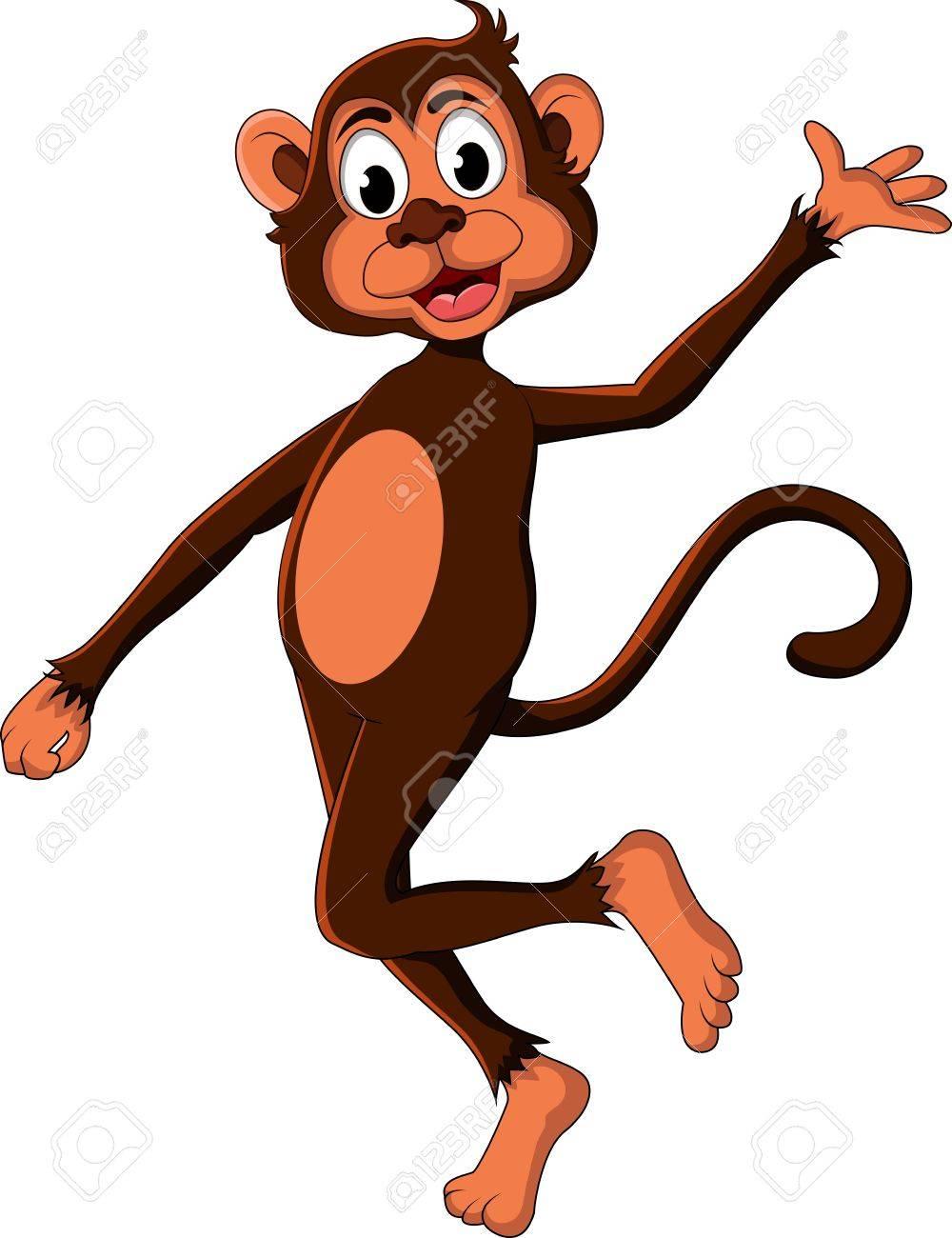 cute monkey cartoon expression Stock Vector - 17840634