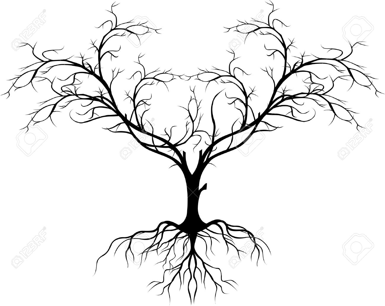 tree silhouette without leaf Stock Vector - 17840663