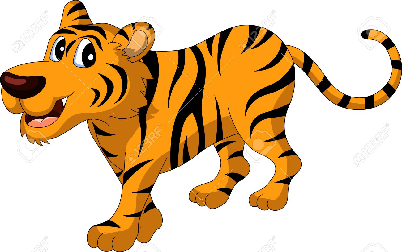 cute tiger cartoon royalty free cliparts vectors and stock rh 123rf com tiger cartoon images black and white tiger cartoon pic