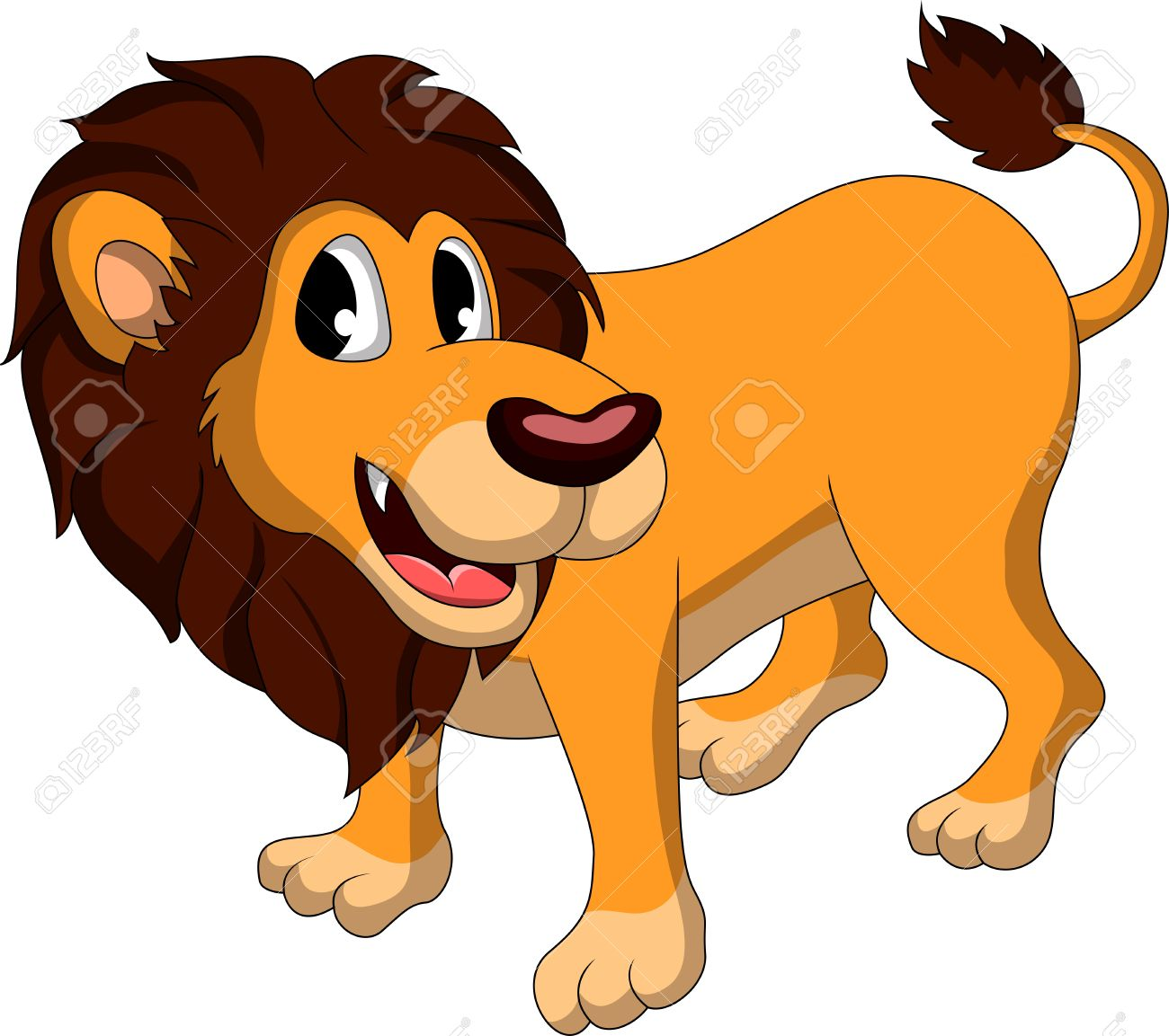 cute lion cartoon stock vector 17884595
