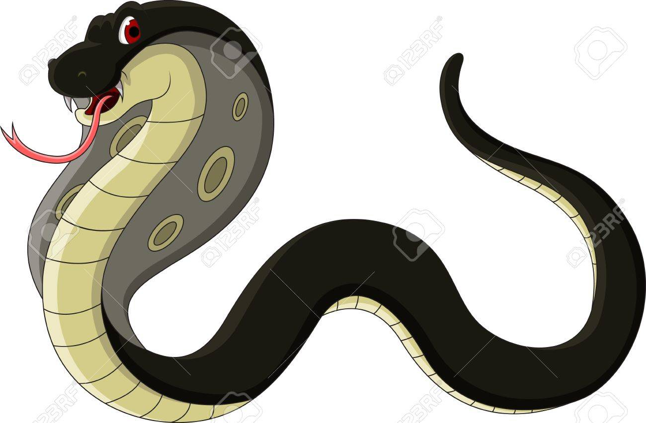 black cobra cartoon Stock Vector - 19249449