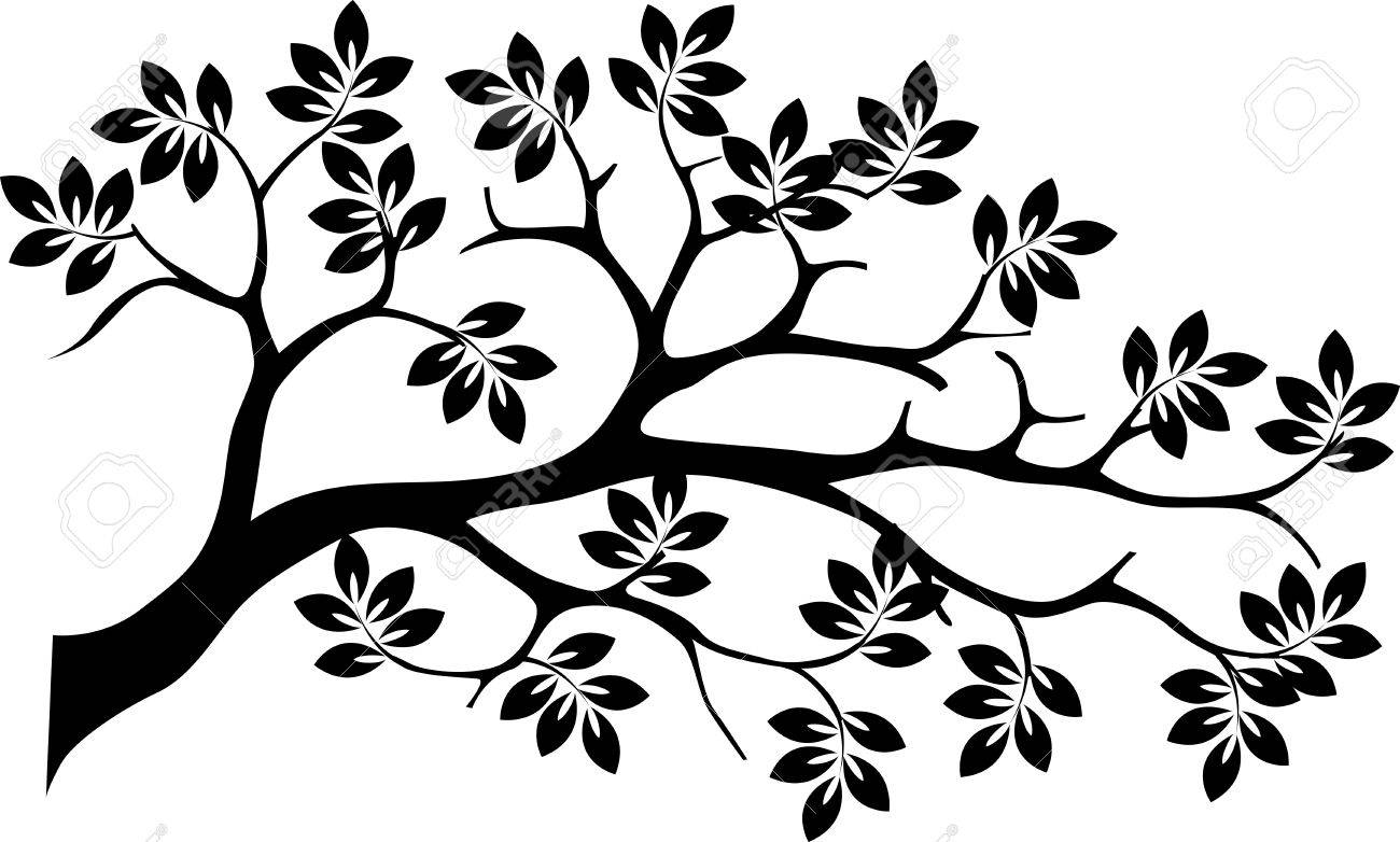 Tree Of Life Clip Art Black And White Vector - black tree silhouette