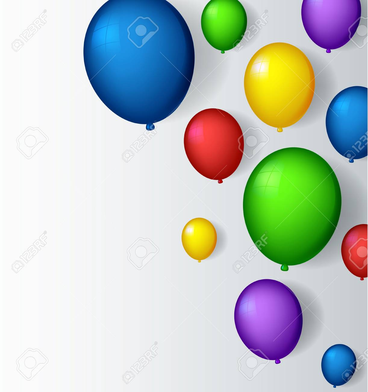 vector illustration of decoration with balloons Stock Vector - 19483355