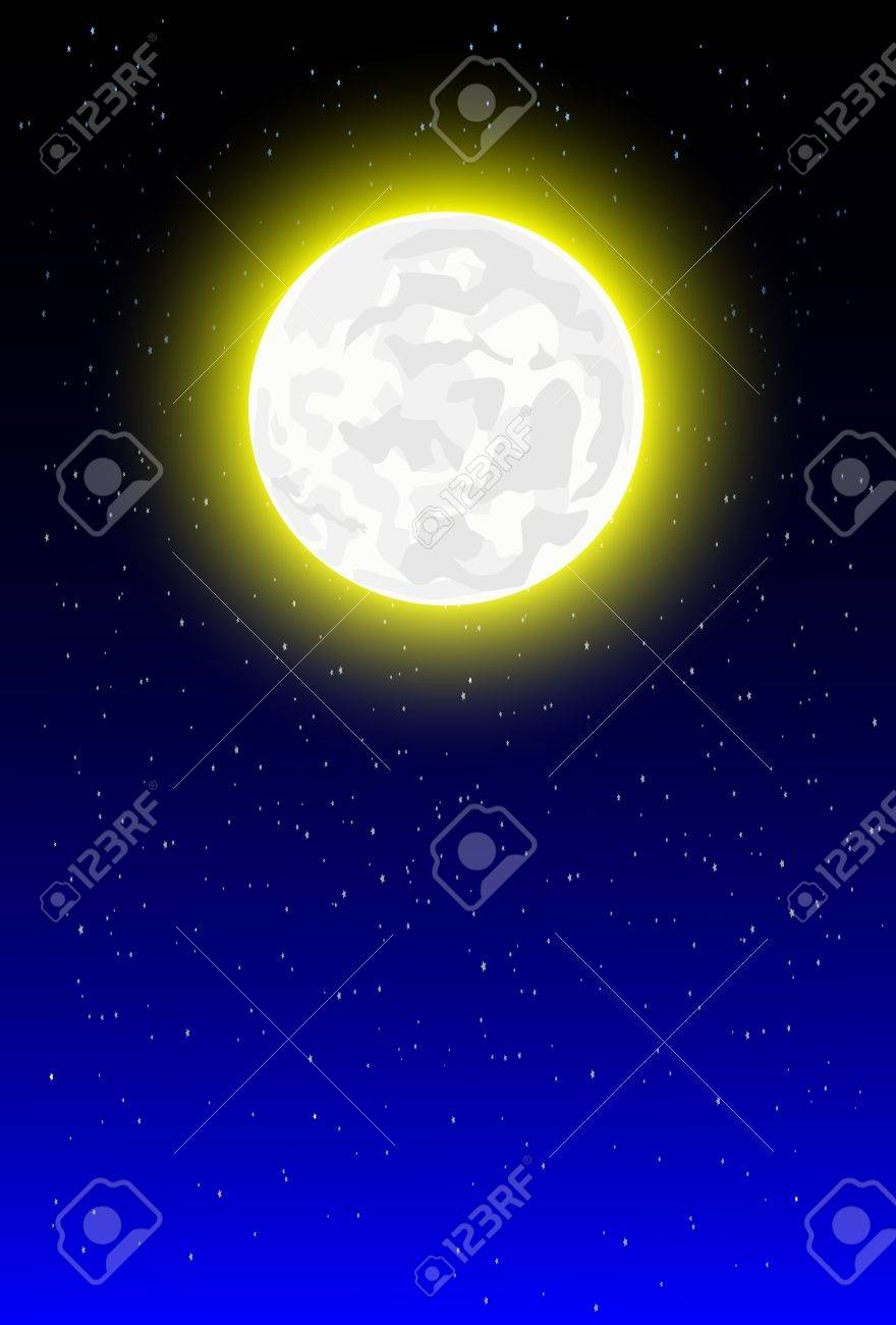 night background with moonlight Stock Vector - 19987063