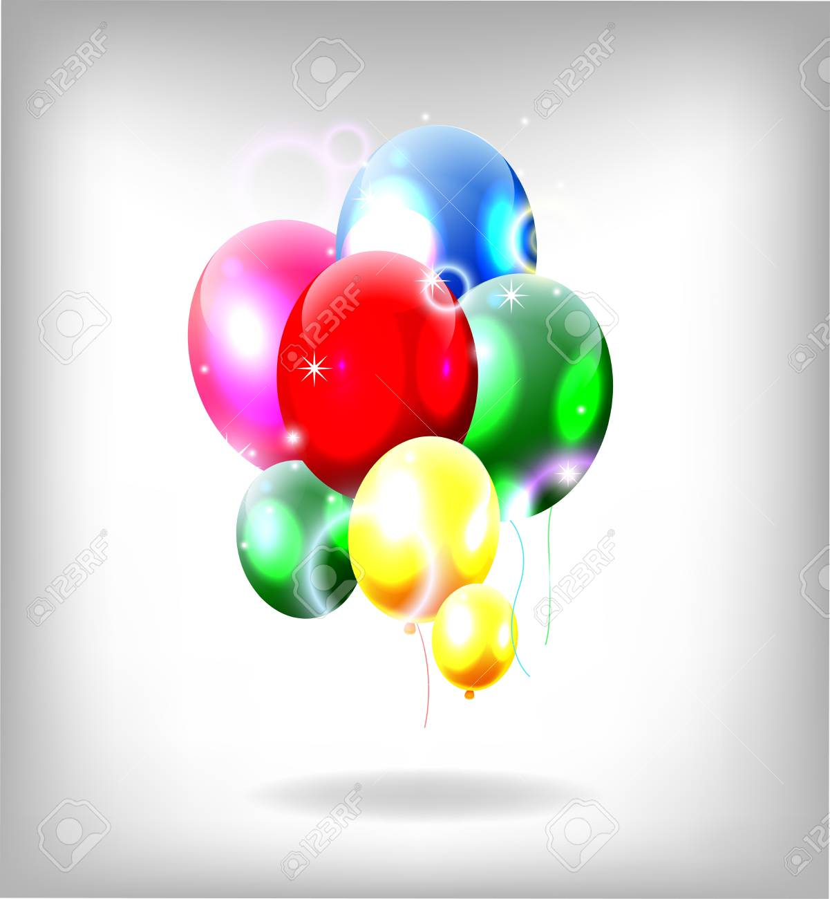 birthday background with balloons Stock Vector - 19989084