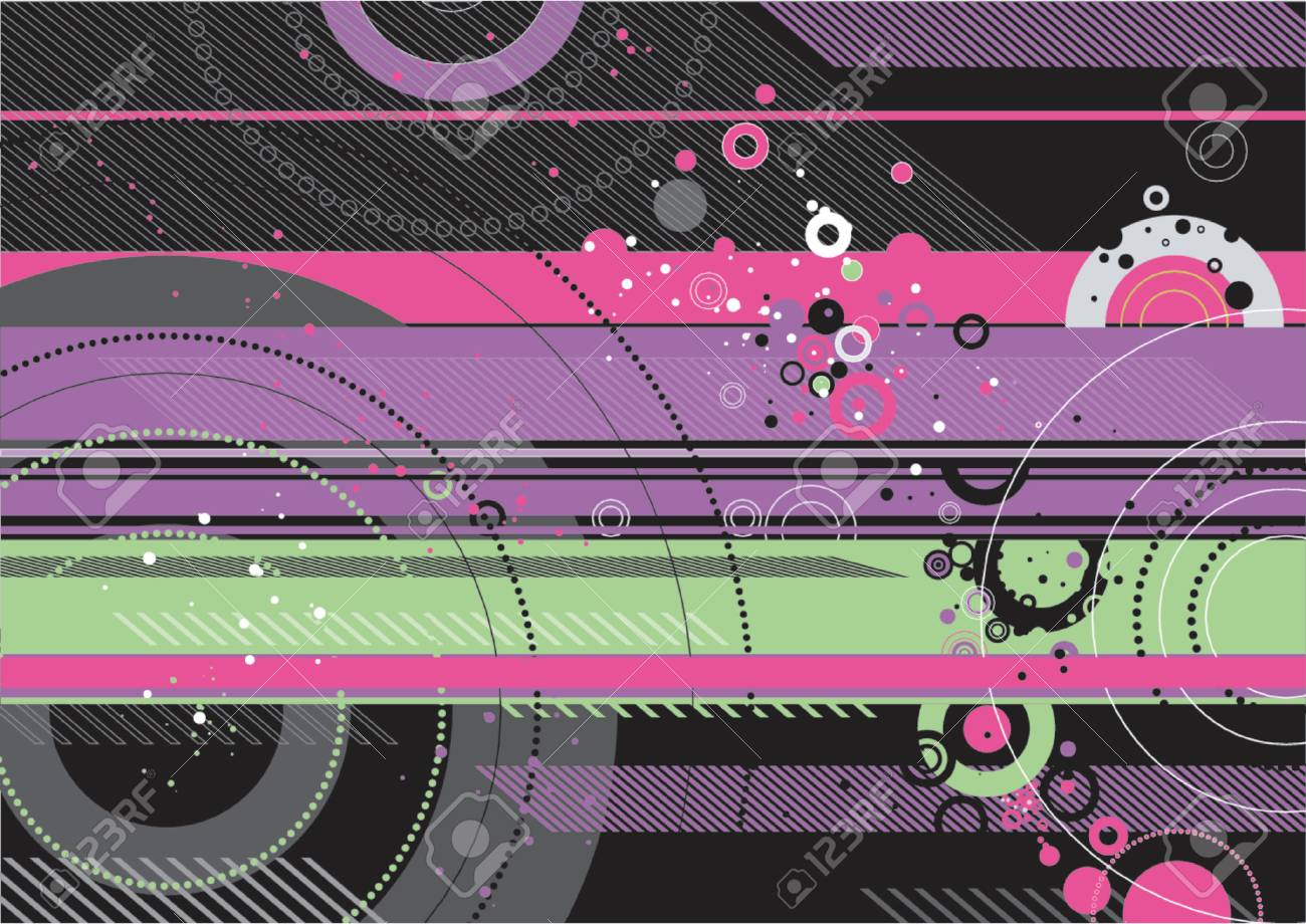 Grunge background with many different  circles,vector illustration Stock Vector - 892693