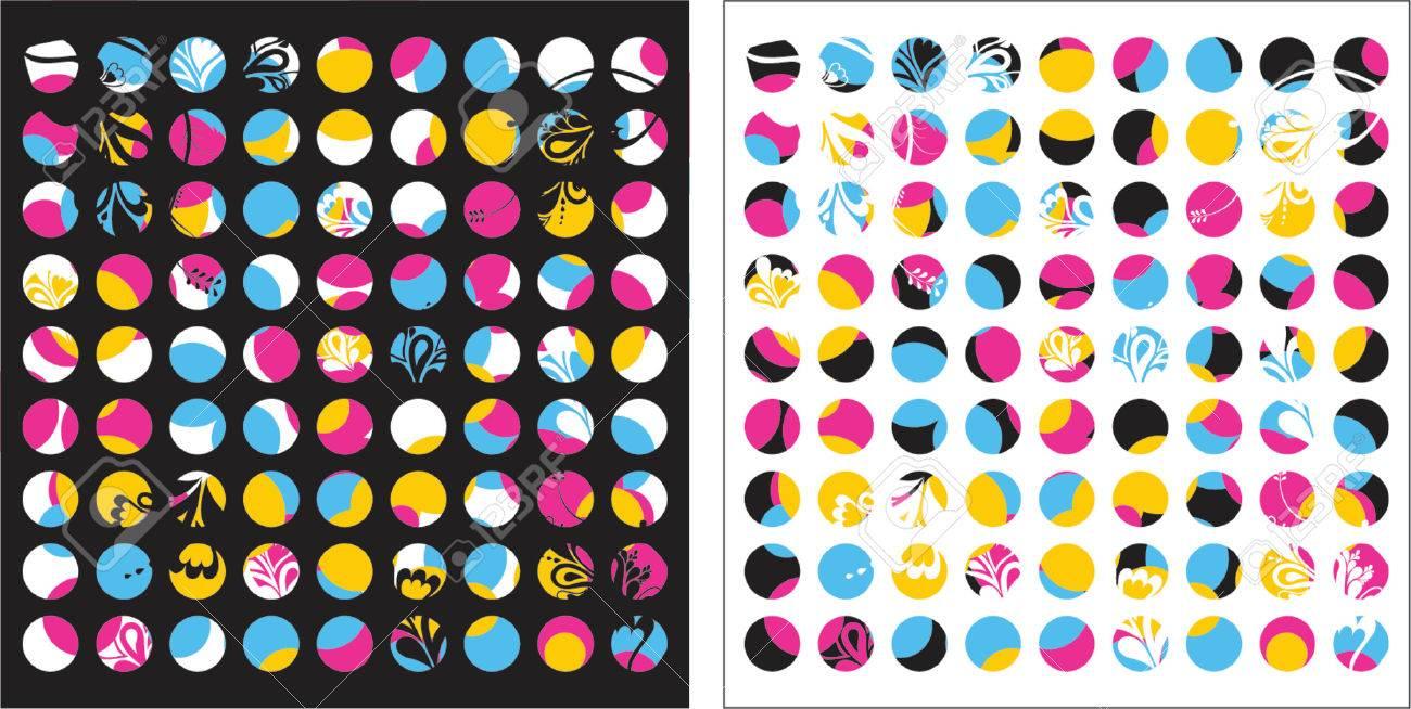floral, fleurs, jaune, vecteur, cercle, moderne, couleurs, design, grunge, nature, détail, naturel, graphique, élément, dessins, images clipart, image,