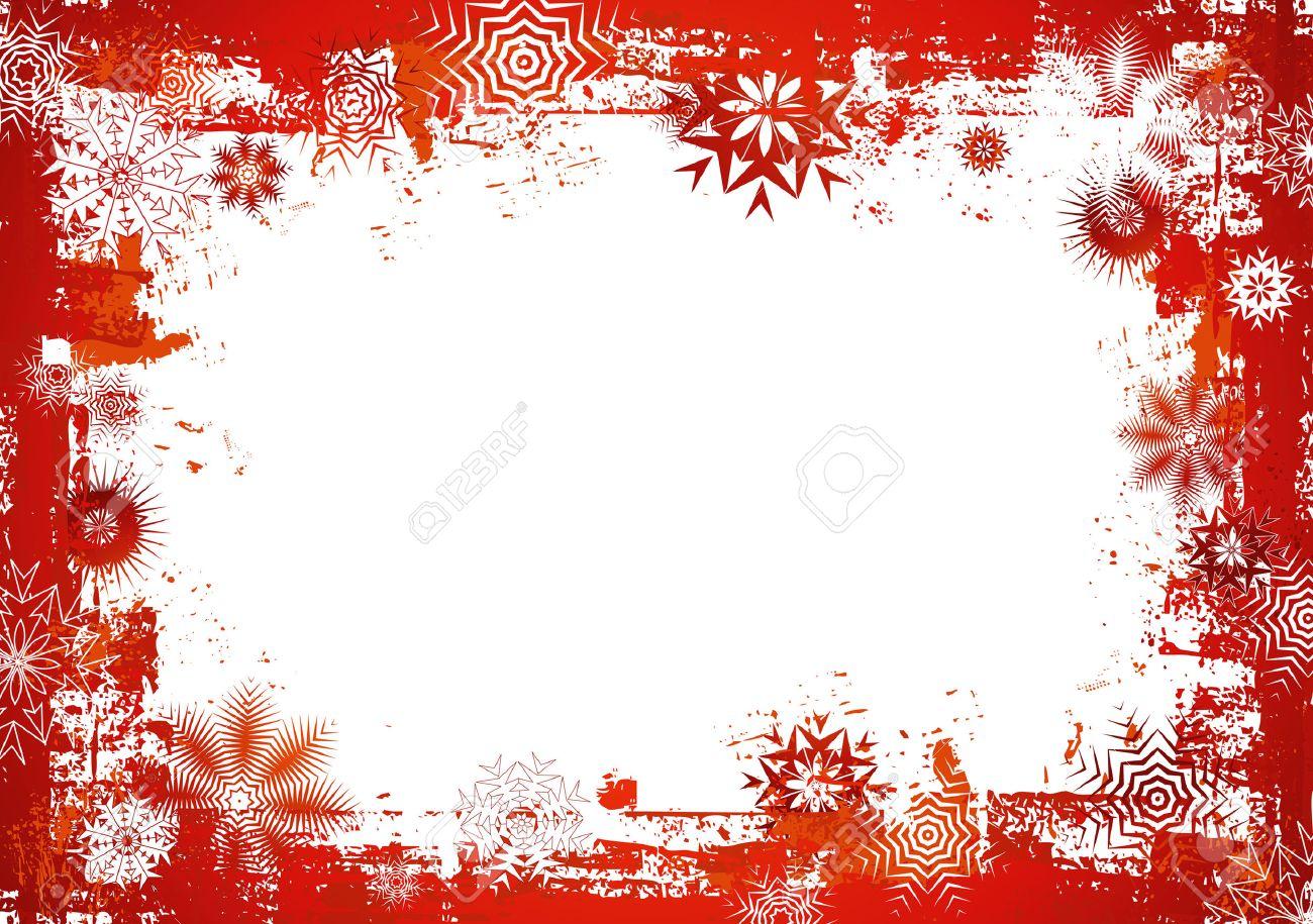 Rot, Neu, Vorabend-, Kälte-, Weihnachten, Karte, Schnee, Jahr, Flake ...