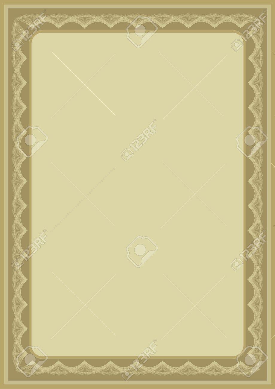background blank border certificate charter decoration