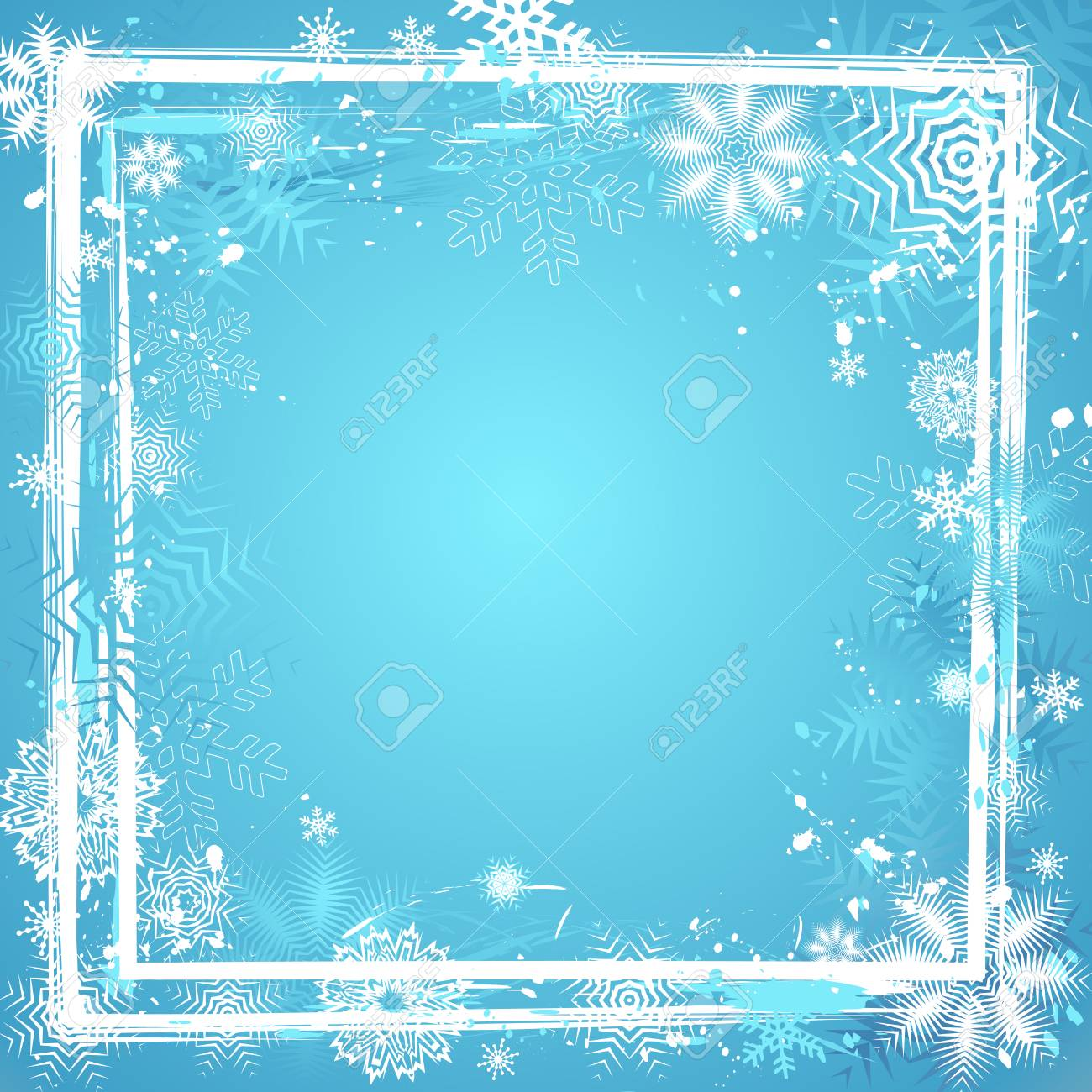 Blue background with many Christmas decorative motives Stock Vector - 1511172