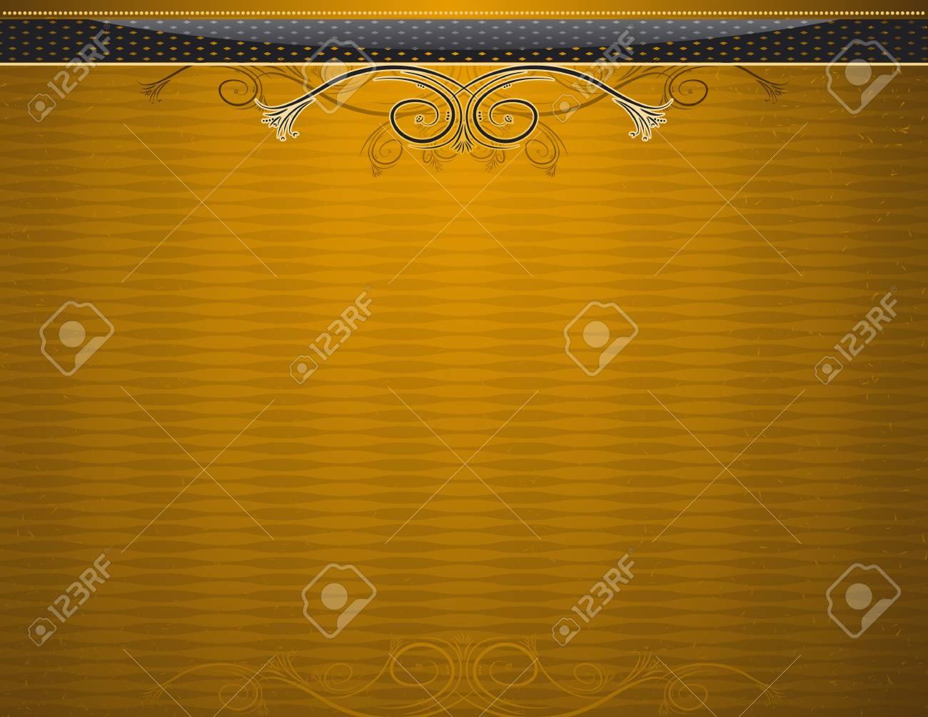 golden antique background, vector illustration Stock Vector - 2833267