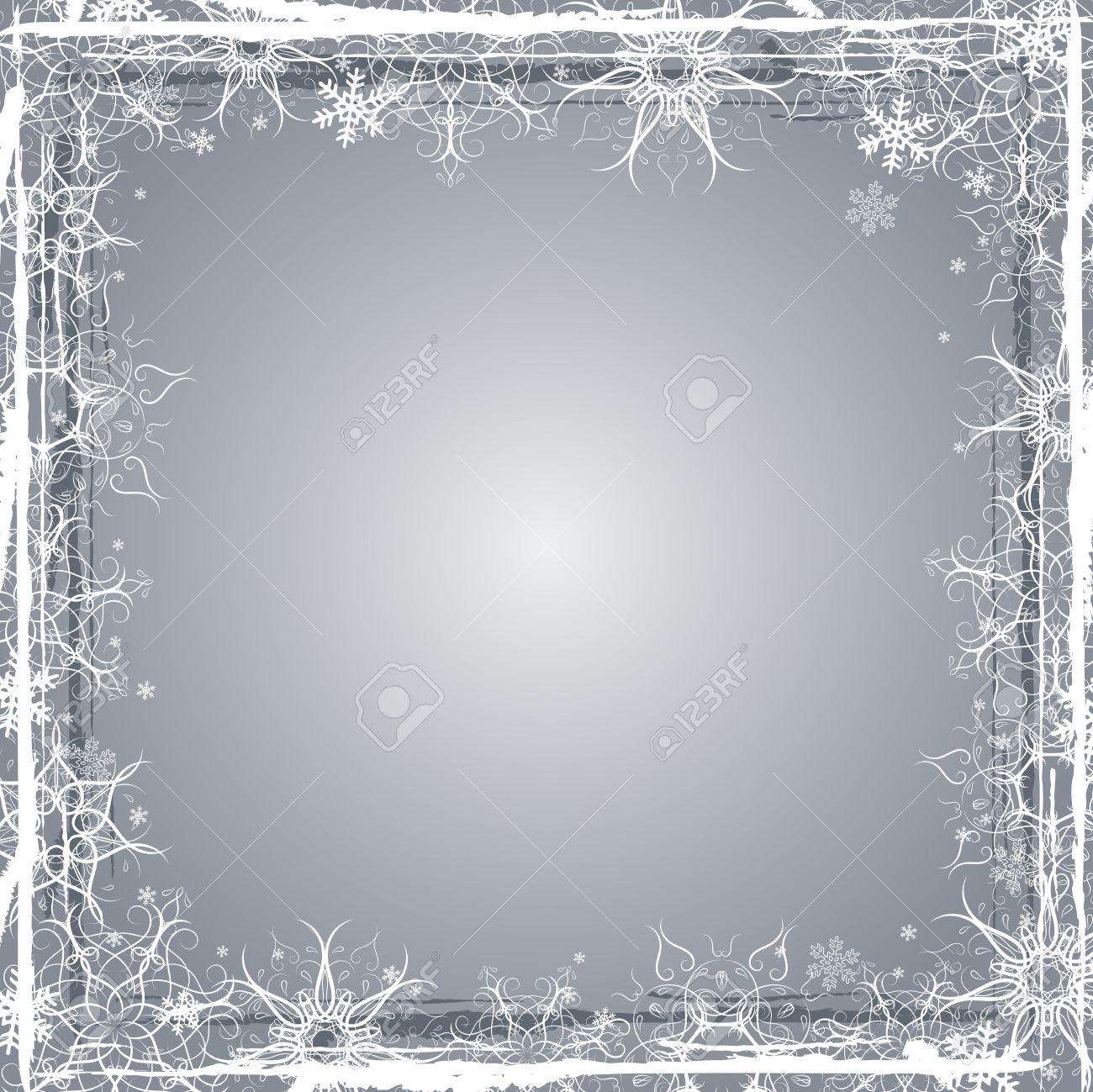 Silver Grunge Christmas Background, Vector Illustration Royalty ...