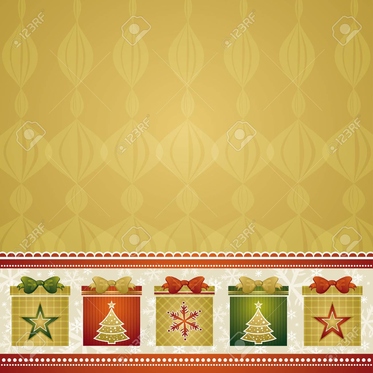 christmas background with gifts, vector illustration - 5552979