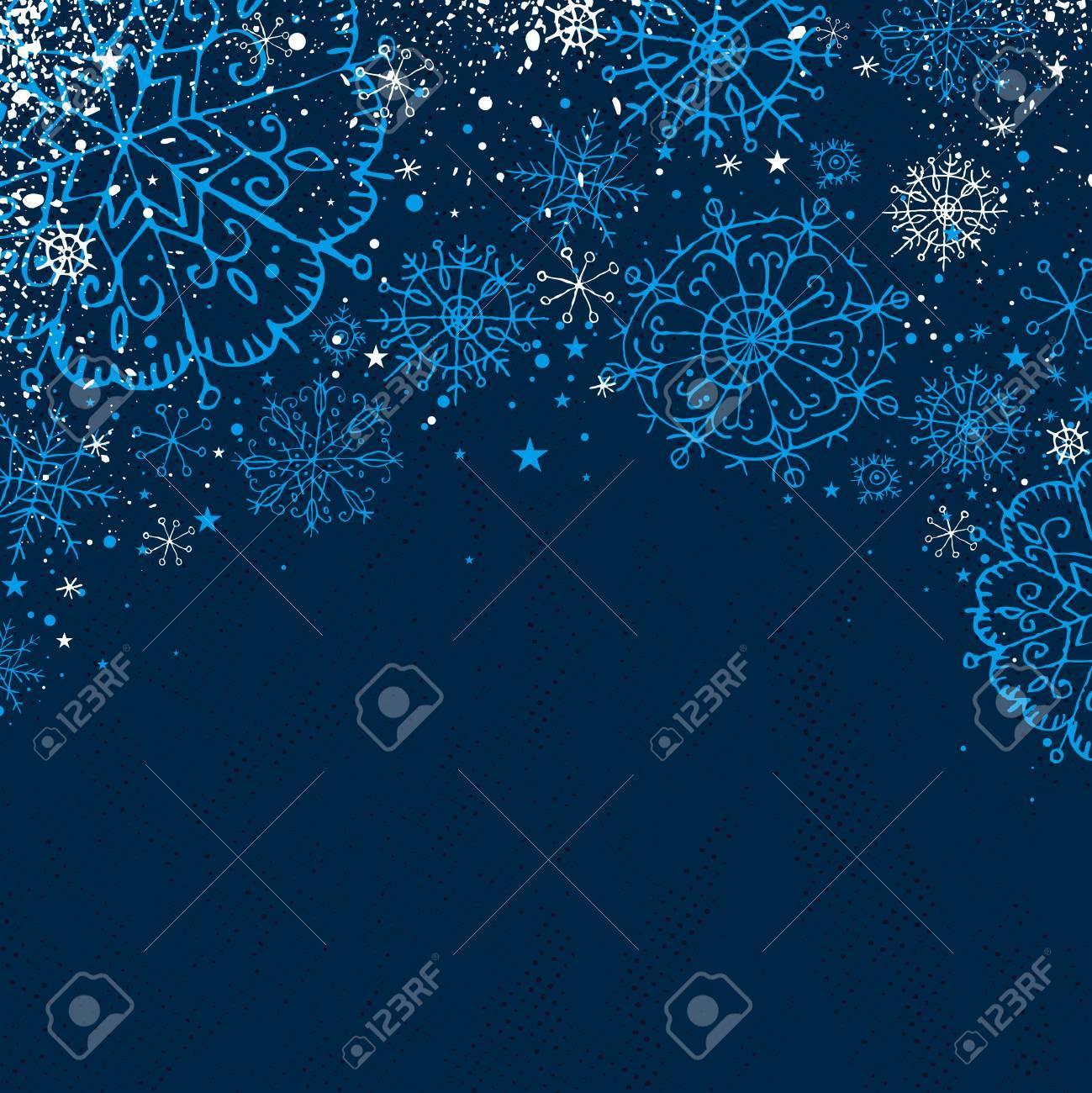 blue christmas background, vector illustration Stock Vector - 5779704