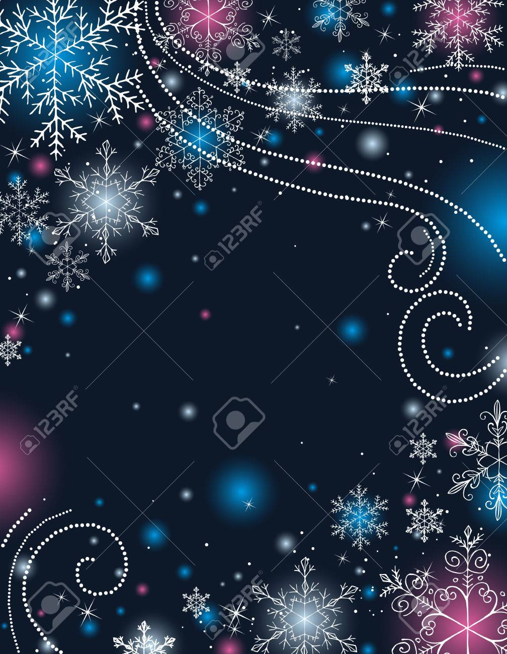 blue christmas background, vector illustration Stock Vector - 5787607