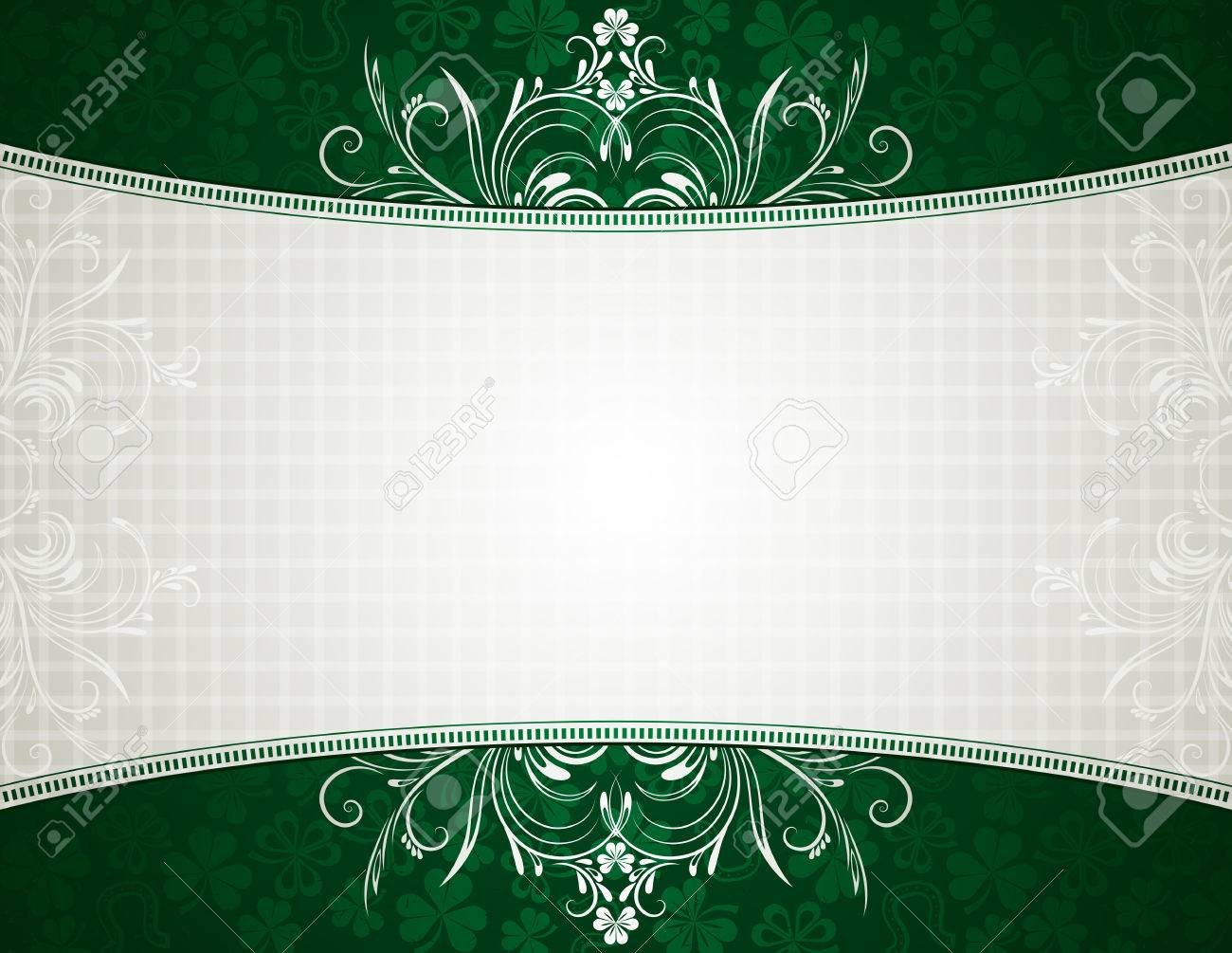 green card with shamrock, vector illustration Stock Vector - 6248535