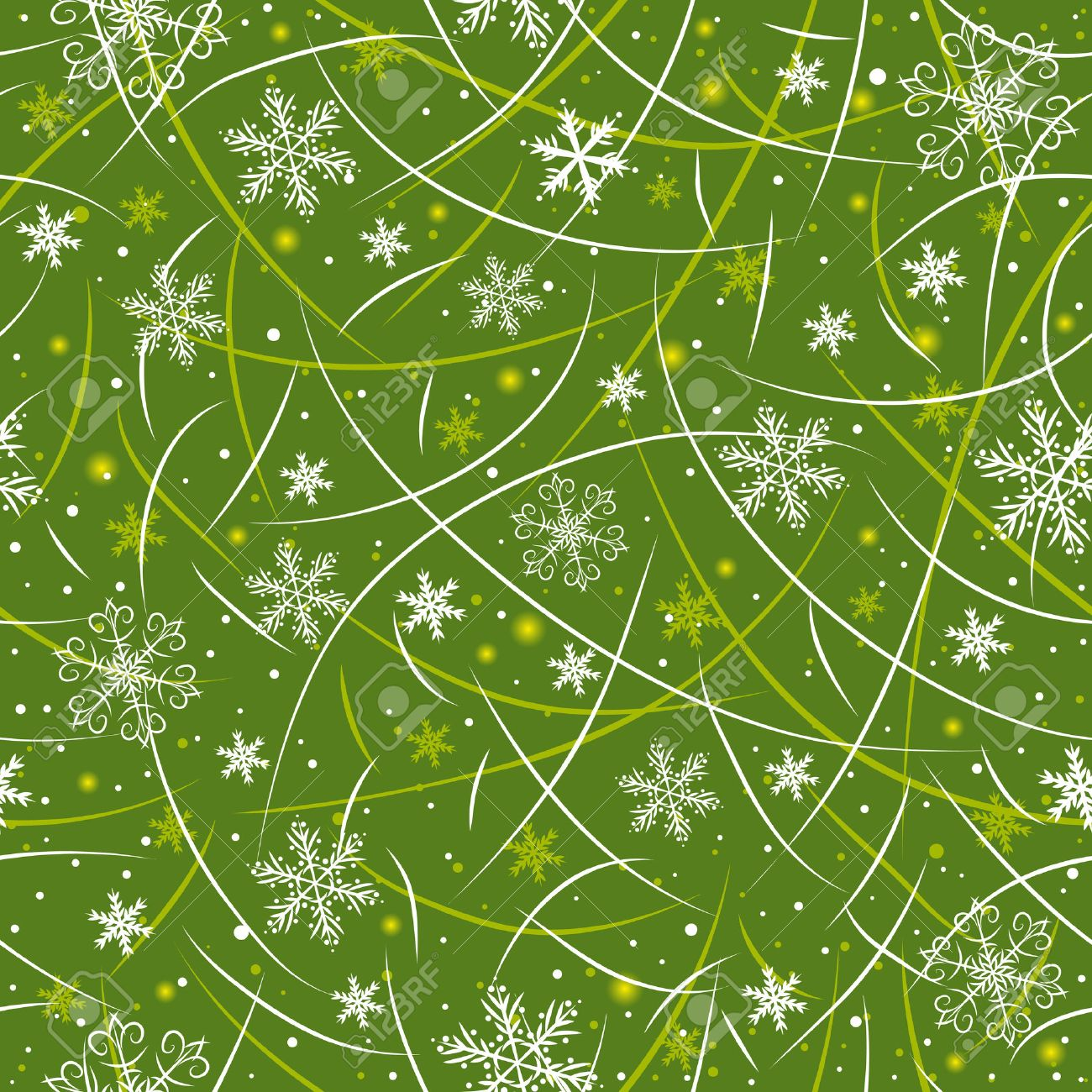 green wrapping christmas paper Stock Vector - 8030609