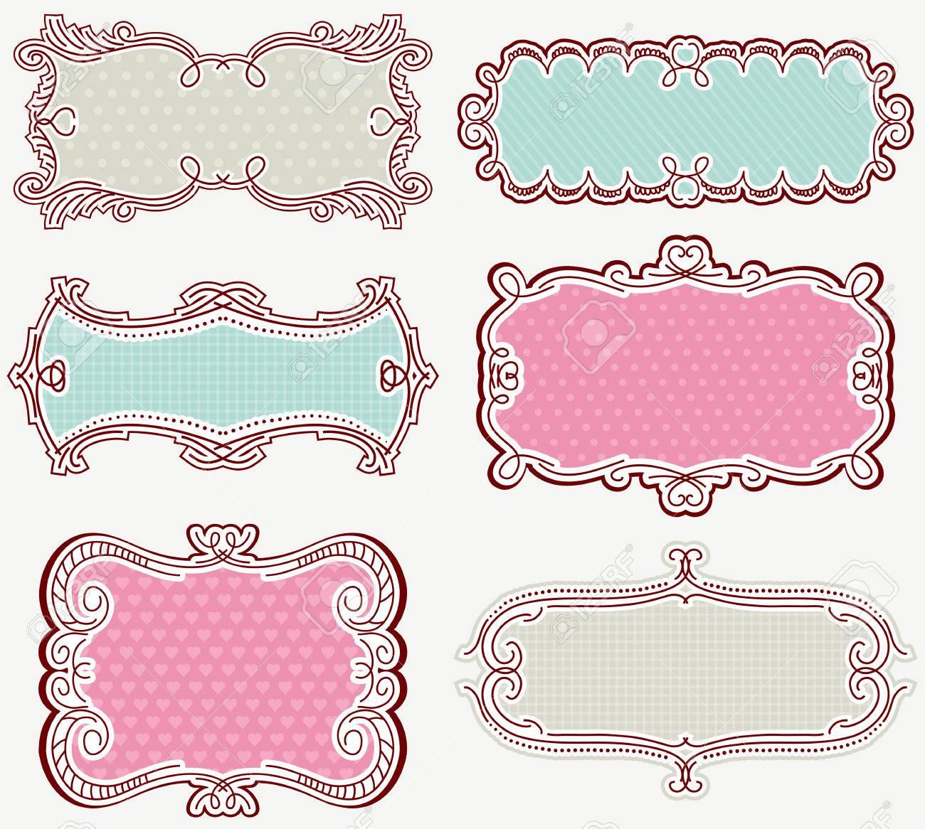 decorative labels suitable for design royalty free cliparts vectors